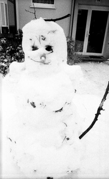 BW_Snowman